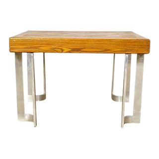 1970s Aluminum Base Coffee Table