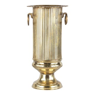 French Louis XVI Style Brass Umbrella Holder, 1900s