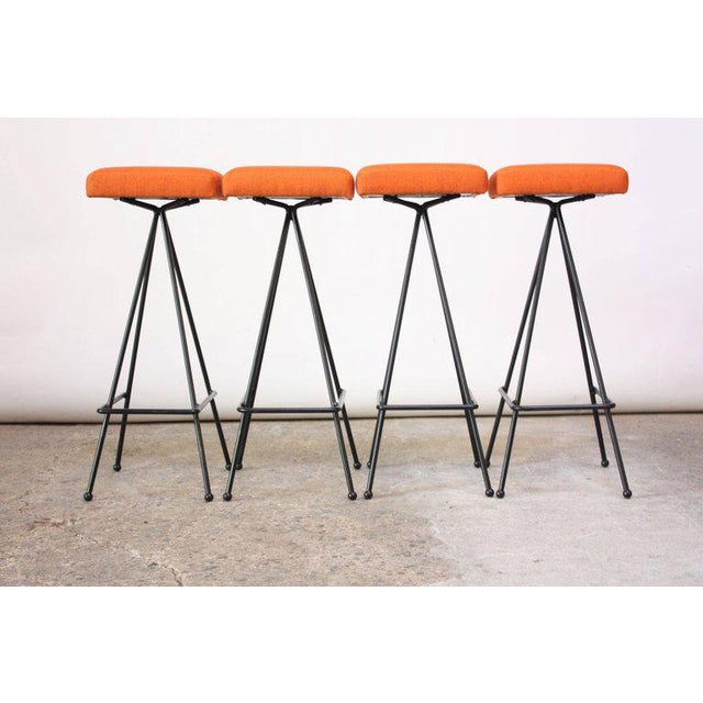 Set of Four Adrian Pearsall #11 Iron Barstools - Image 4 of 11