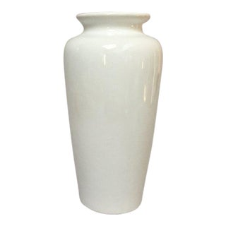 Harris Potteries Tall White Ceramic Vase