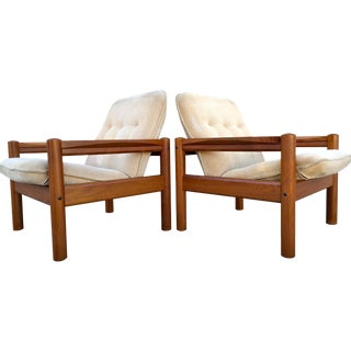 Domino Mobler Vintage Teak Lounge Chairs - A Pair