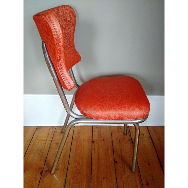 Retro 1950s Vinyl & Chrome Dining Chairs - Set of 4 - Image 4 of 10
