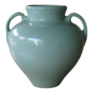 A Large-Scaled American Pottery Aqua-Glazed Urn