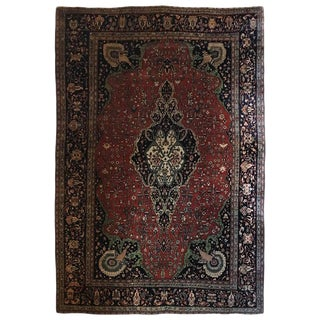 Finely Knotted Farahan Sarouk Iranian Carpet - 10′4″ × 14′8″