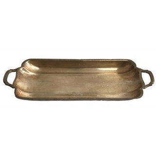 Silver Carrying Tray with Handles