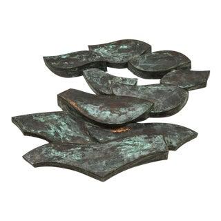 Abstract Bronze Wall Hanging Sculpture