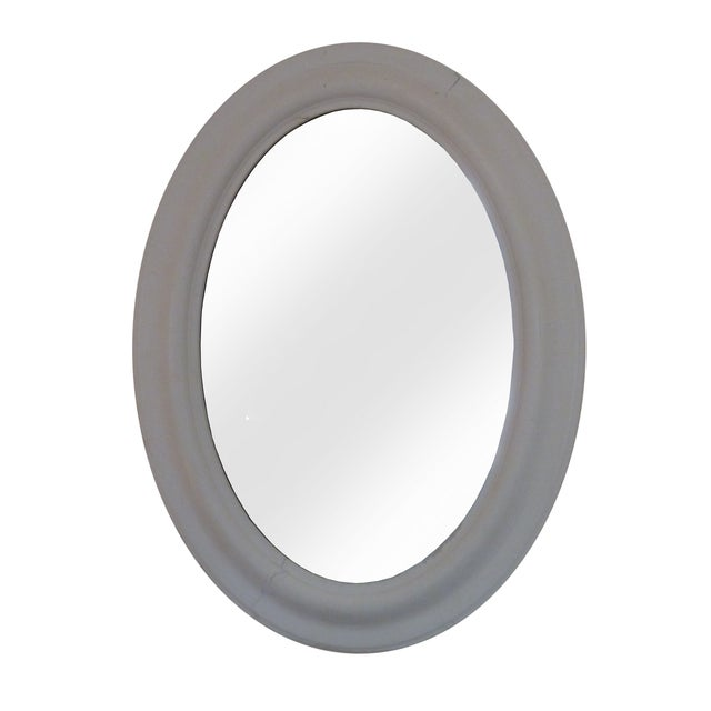 Oval Whitewashed Mirror - Image 1 of 6