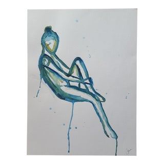 Abstract Female Nude Watercolor