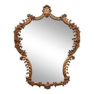 Gilt Shield-Shaped Wall Mirror