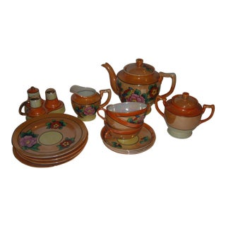 Decorated Porcelain Tea Set From Japan