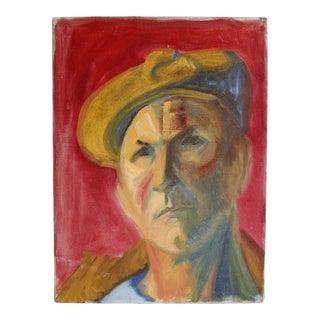 Vintage Original Oil Portrait Painting of a Man