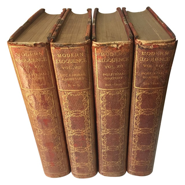 Decorative Antique Books - Set of 4 - Image 1 of 5