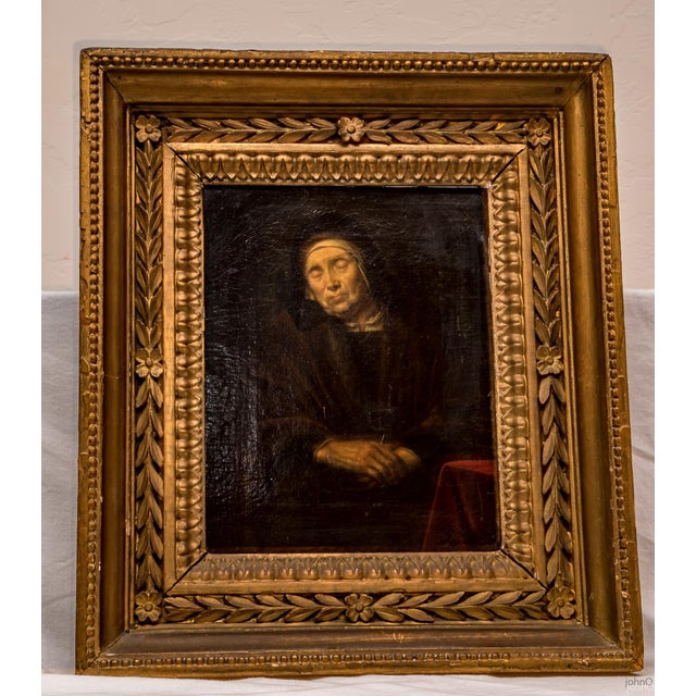 Abraham VanDyck Painting - Old Woman - Image 2 of 4