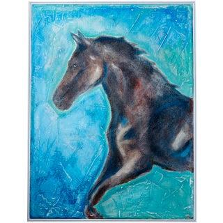 Galloping Stallion Original Oil Painting