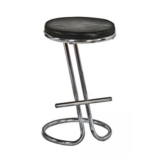 "Gilbert Rohde Chrome ""Z"" Bar Stool"