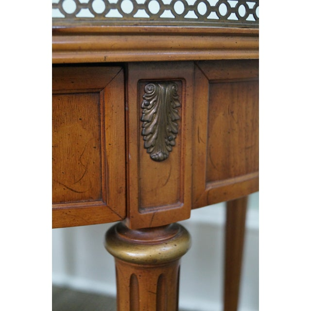 Henredon French Louis XVI Walnut Tables - A Pair - Image 5 of 10