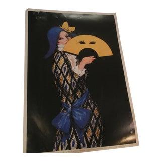 Vintage French Woman Poster Print