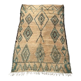 "Vintage Green Diamond Talsint Rug - 5'4"" X 8'2"""