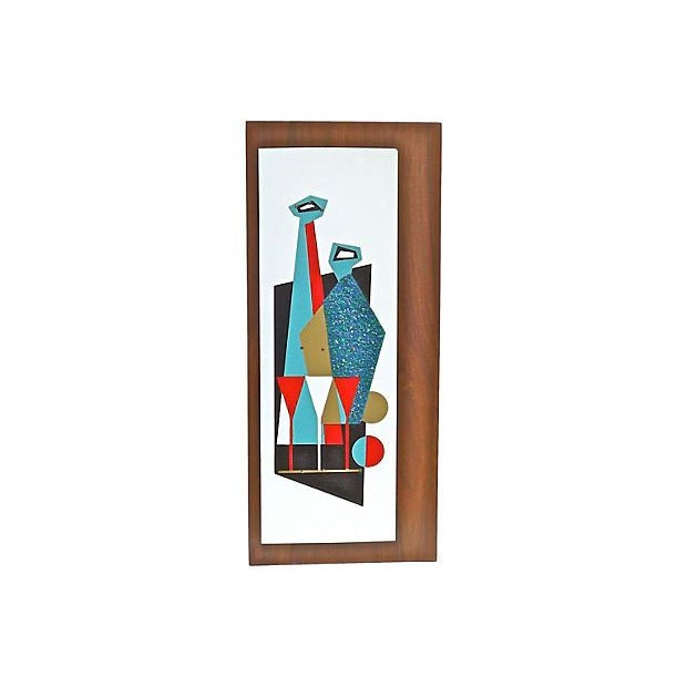 Image of Mid-Century Modern Abstract Bar Wall Plaque