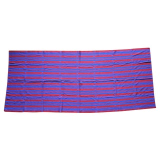 Pink & Blue Rectangular Hand Woven Table Cloth
