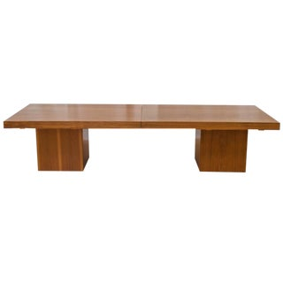 John Keal for Brown Saltman Expandable Walnut Coffee Table