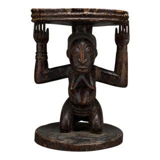 Hemba Wooden Caryatid Stool