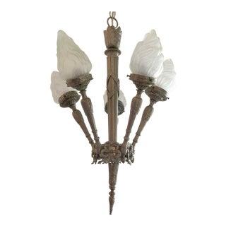Antique Torch Light Chandelier