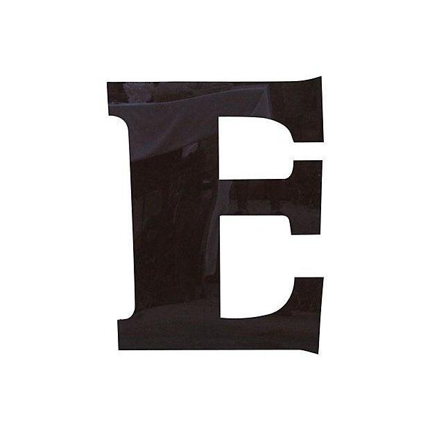 34 Quot Salvaged Brown Plexiglass Marquee Letter E Chairish