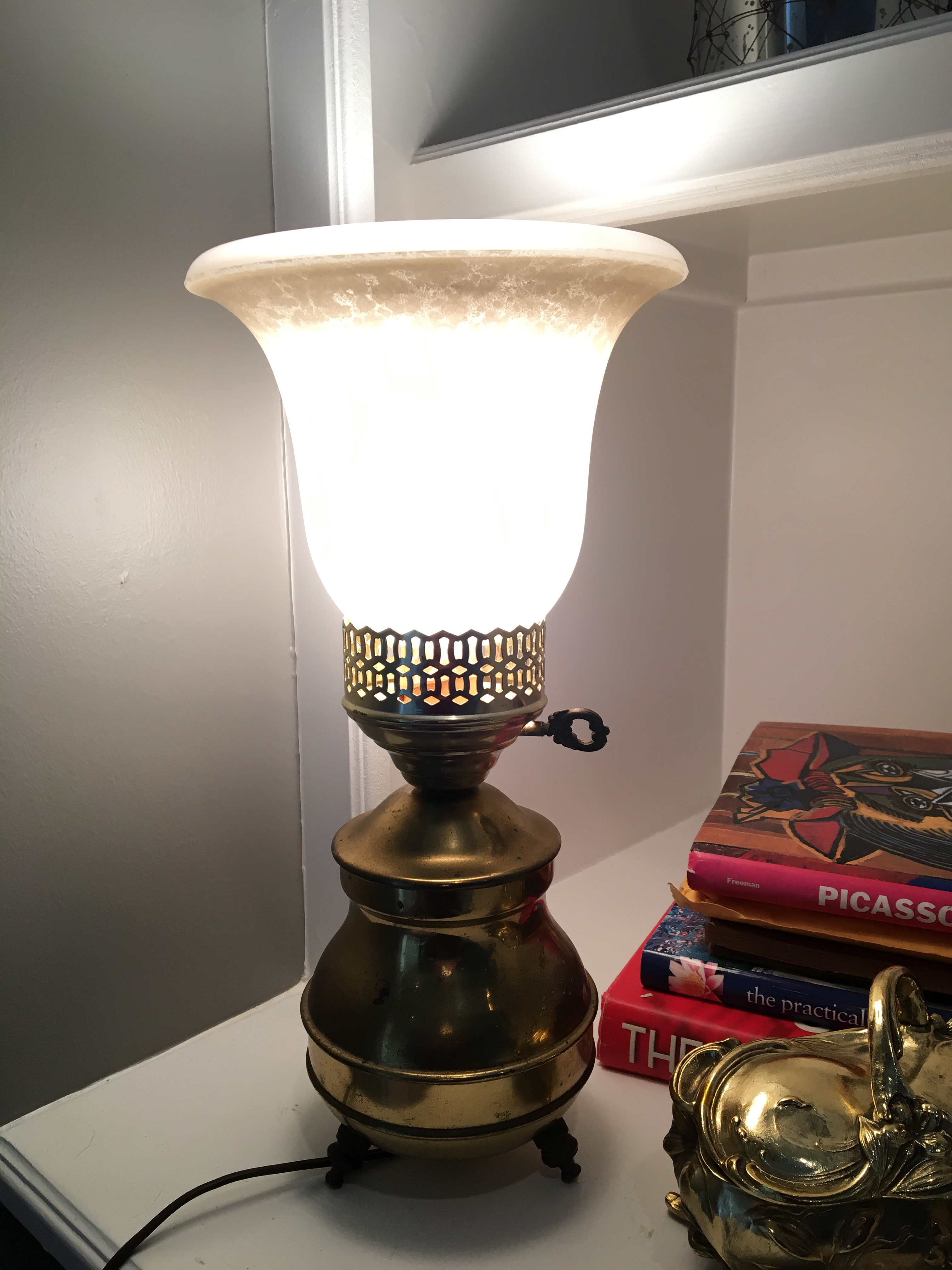 Vintage Brass Torch Table Lamp   Image 3 Of 6
