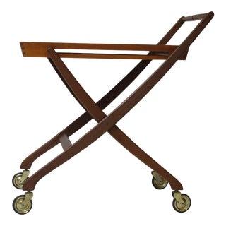 Danish Teak Folding Bar Cart