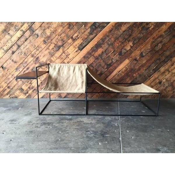 Modern Wrought Iron Chair Lounger - Image 3 of 6