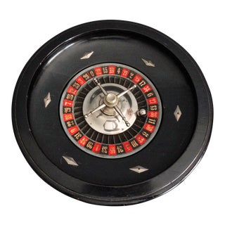 French Ebony Roulette Gambling Wheel Game