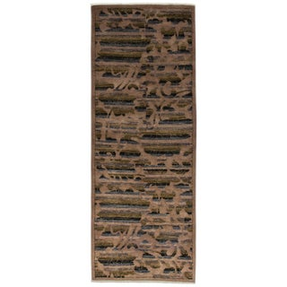 """Contemporary Hand Knotted Runner - 3'2"""" X 8'2"""""""