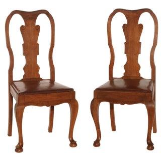 Queen Anne Charante Chairs - A Pair