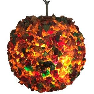 Mid-Century Multi Color Acrylic Sphere
