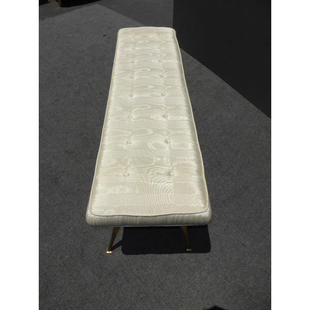 Jonathan Adler Mid-Century Modern Style Bench with Brass Legs - Image 11 of 11