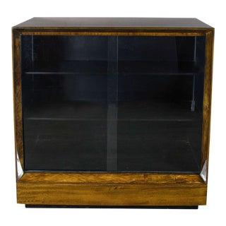 Exceptional Art Deco Bookcase by Gilbert Rohde in Book-Matched Paldao Wood