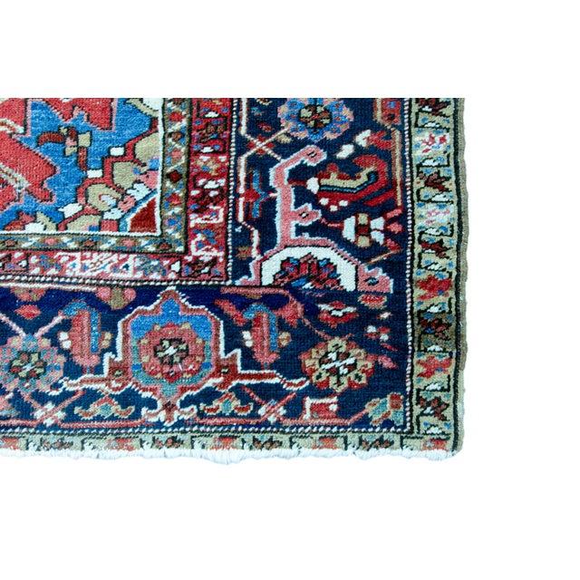 """Antique Persian Heriz Rug - 8' 10"""" x 11' 2"""" - Image 9 of 9"""