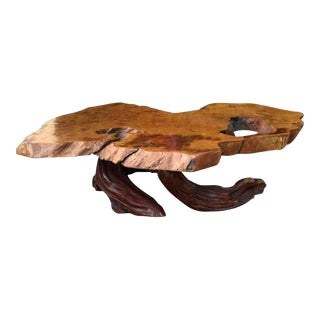 Natural Root Slab Coffee Table