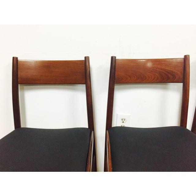 Italian Mahogany Dining Chairs - Set of 4 - Image 4 of 11