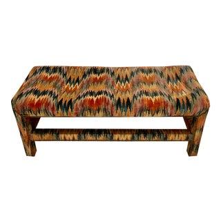 Silk Velvet Upholstered Parsons Bench