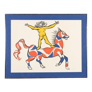 """Circus Bareback Rider"" Framed Alexander Calder Lithograph"