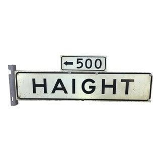 1970s Haight Street 500 Block Metal Sign