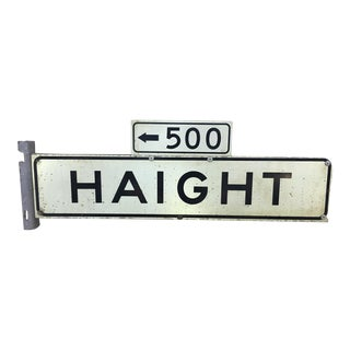1970s Haight Street 500 Block Metal Sign