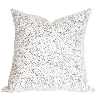 """Confetti Cream & Black Pillow Cover 18"""""""