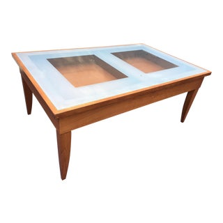 Etched Glass Top Coffee Table