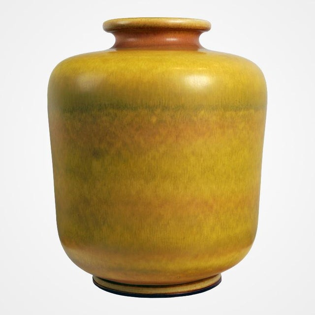 Large Yellow Stoneware Vase by Berndt Friberg for Gustavsberg - Image 4 of 4