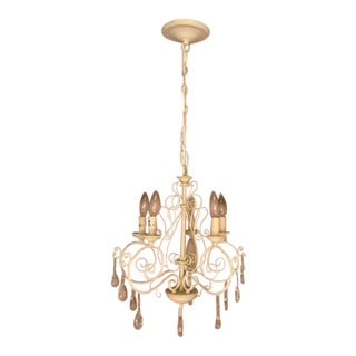 Pottery Barn 5-Light White Chandelier