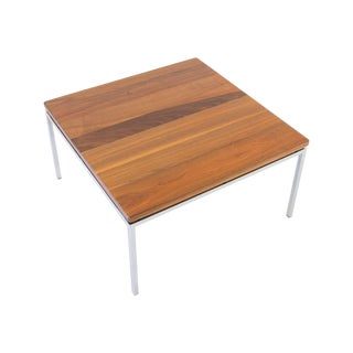 Knoll Style Walnut Square Side Table