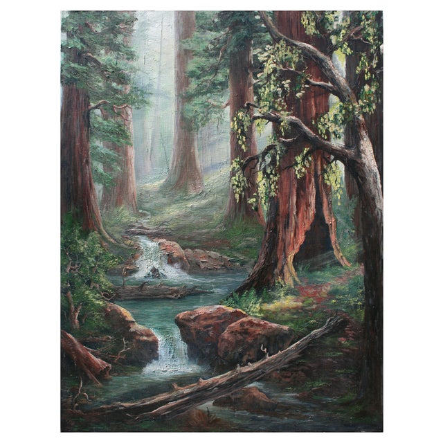 Redwood Trees Painting - Image 1 of 2